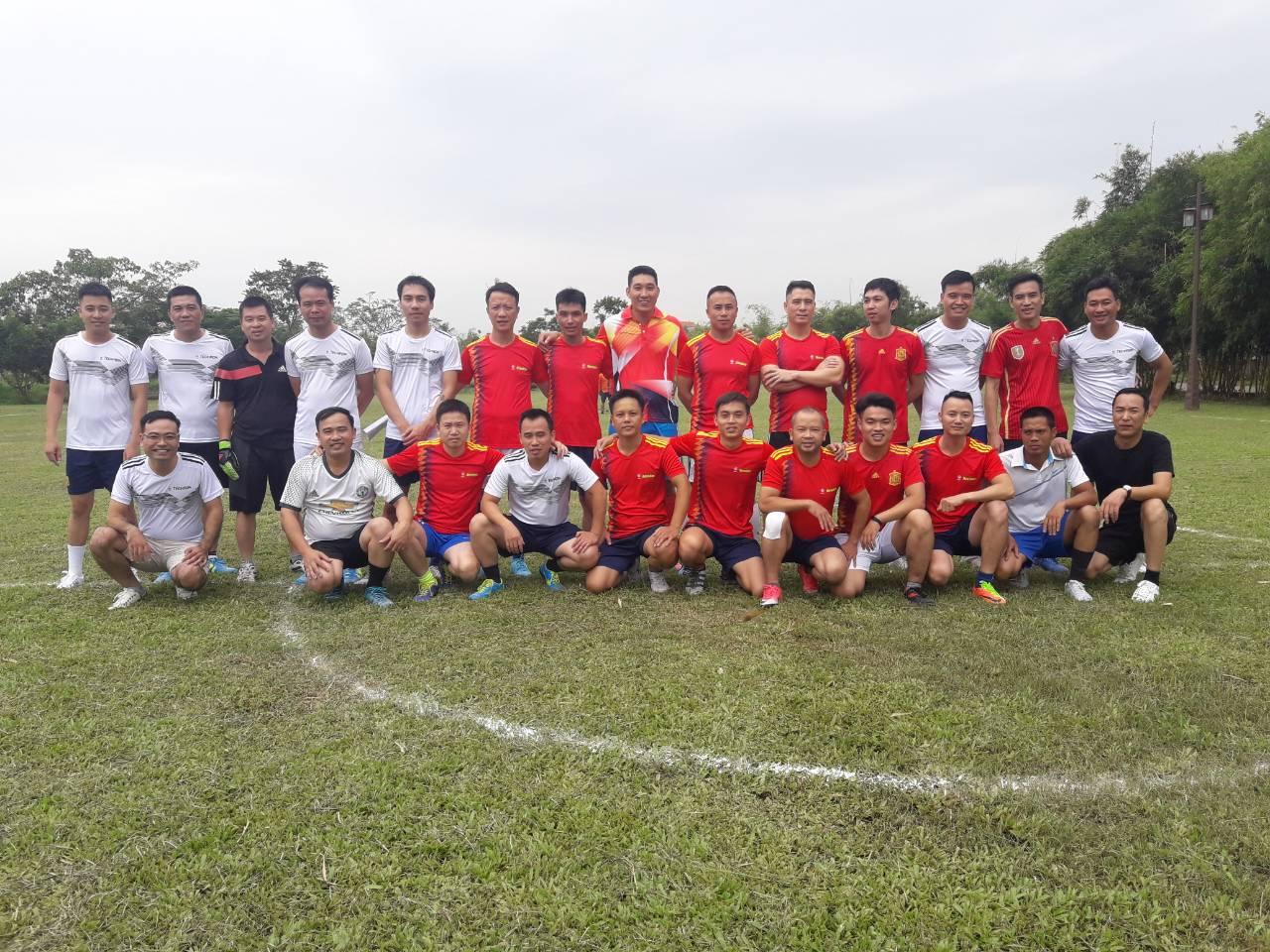 Trận bóng đá giao hữu giữa Telin Group và Telin M&E