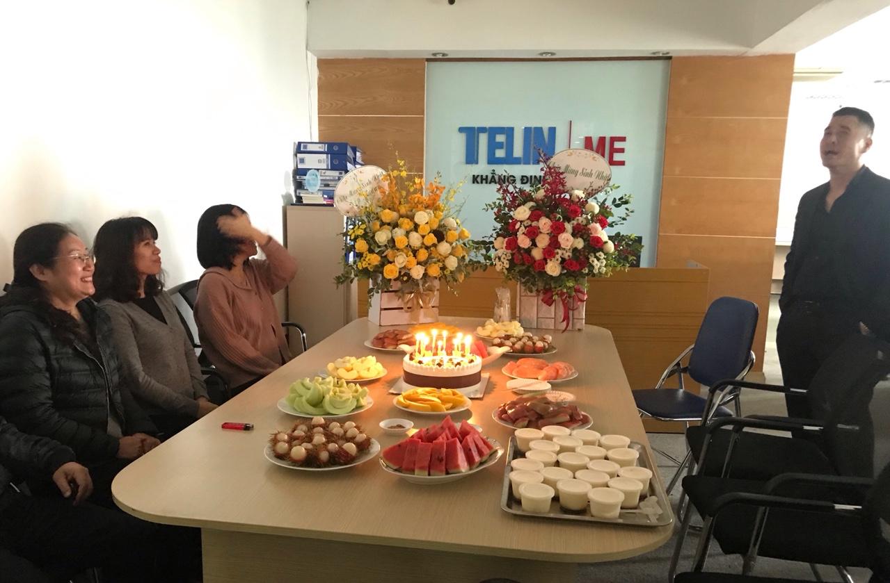Bữa tiệc liên hoan Mừng sinh nhật Tổng giám đốc Công ty Cổ phần cơ điện Telin - Anh Nguyễn Triều Dương